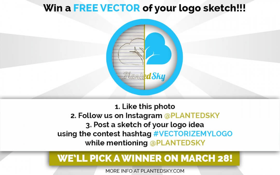 #VECTORIZEMYLOGO Instagram Contest: Win a vector version of your logo sketch!