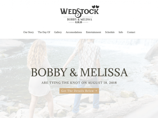 Wedstock Wedding Website