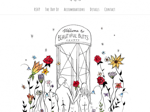 Beautiful Butts Wedding Website